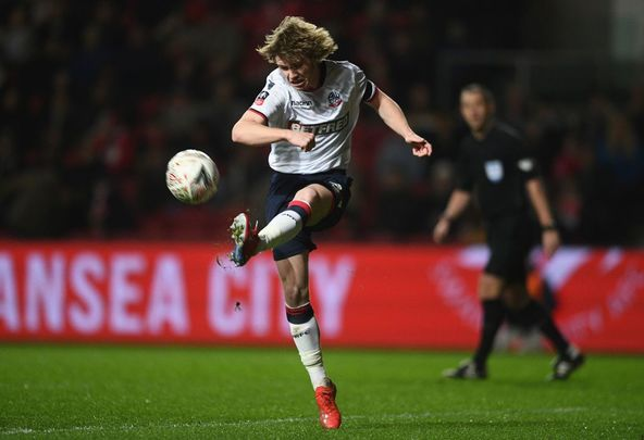 Luca Connell of Bolton Wanderers during the FA Cup Fourth Round match between Bristol City and Bolton Wanderers at Ashton Gate on January 25, 2019, in Bristol, United Kingdom.