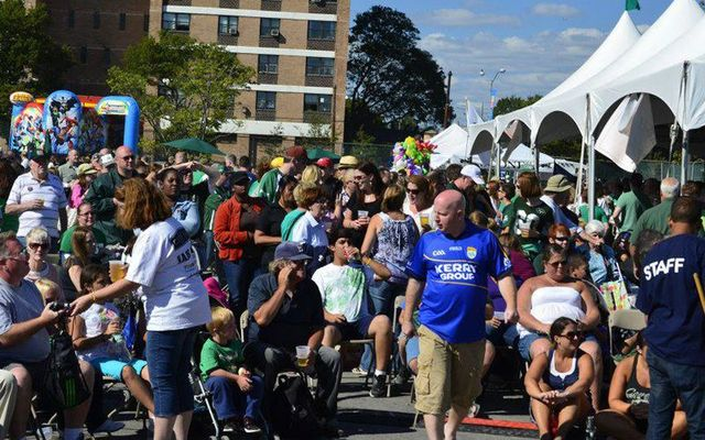 Families, music lovers and those with a gra for Ireland celebrate at the Great Irish Fair, in Brooklyn.