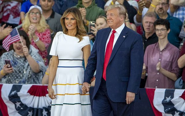 President Donald J Trump and the First Lady Melania on July 4th 2019.