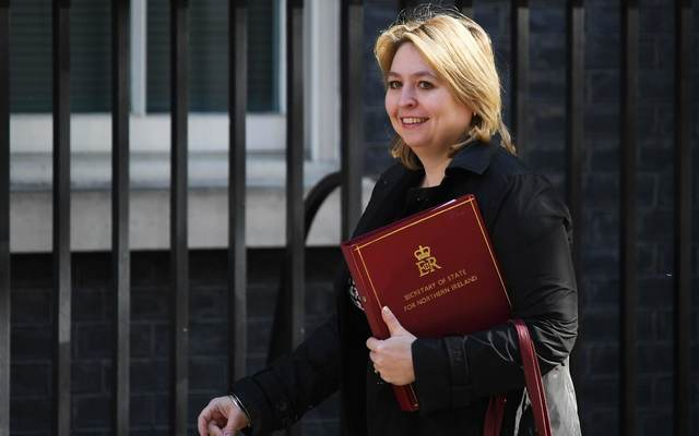 Former Secretary of State for Northern Ireland, Karen Bradley.
