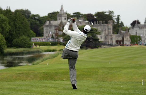 Ryder Cup 2026 here we come! Manual de los Santos teeing off at the 2010 JP McManus Invitational Pro-Am, at Adare Manor Hotel and Golf Resort, in Limerick.