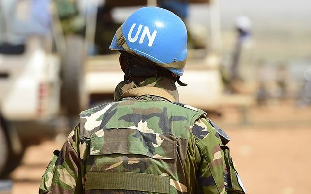 United Nations troops in action.