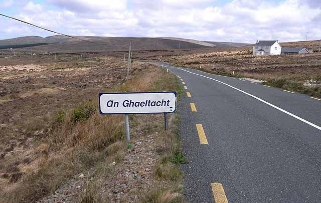The Mayo Gaeltacht is fragmented into three separate districts, of which the north-west part of Erris (seen here) is one.