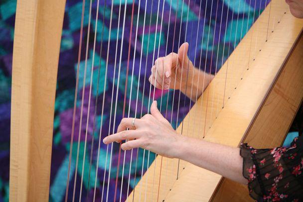 An Irish harp.