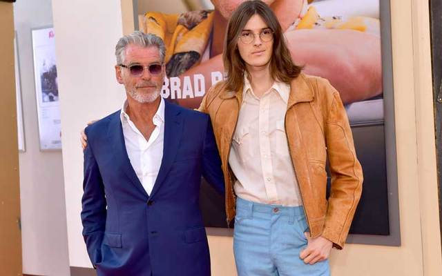 Pierce Brosnan and son Dylan attend the LA premiere of  \'Once Upon a Time in Hollywood\' on July 22, 2019.