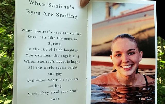 Saoirse Kennedy Hill was remembered with an Irish poem at her Massachusetts funeral on Monday, August 5.