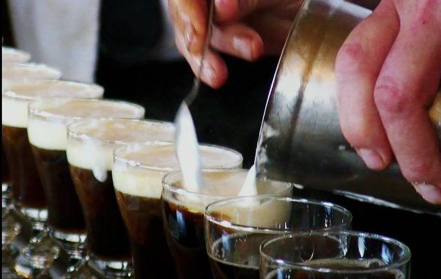 Making Irish Coffees at the Buena Vista in San Francisco