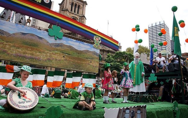Members of the Penrith Gaels float take part in the annual St Patrick\'s Day parade in Sydney\'s CBD on March 21, 2010, in Sydney, Australia. The festival, with more than 70 floats and representation from all 32 counties of Ireland, marks the national day of Ireland, celebrated on March 17.