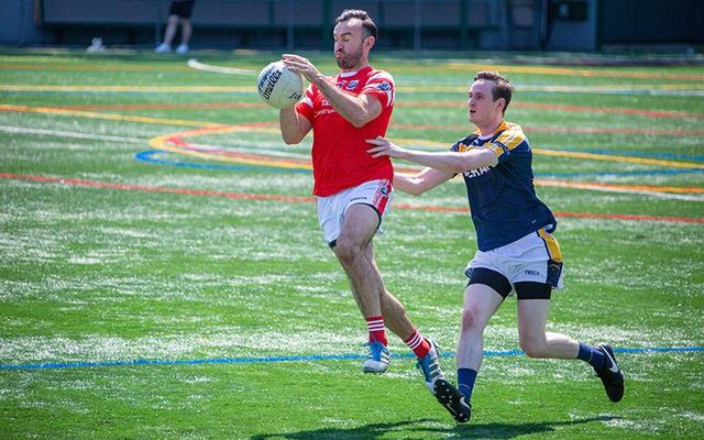 Philip O\'Sullivan gets on the ball.
