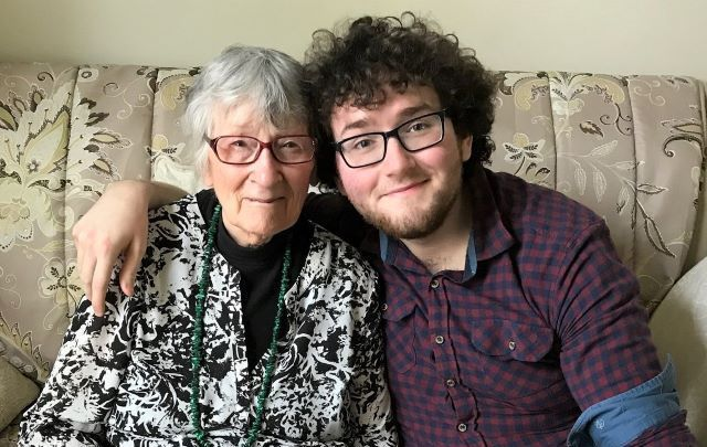 Liam McGlinchey and his grandmother