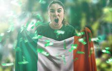 Thumb irish woman flag tricolor cheering gety