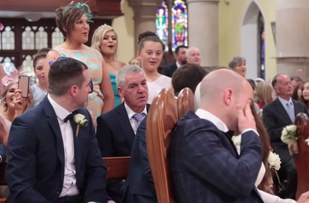 """Wedding guests sing \""""Stand By Me\"""""""