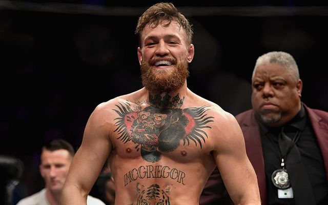 Conor McGregor, in the ring in 2018.
