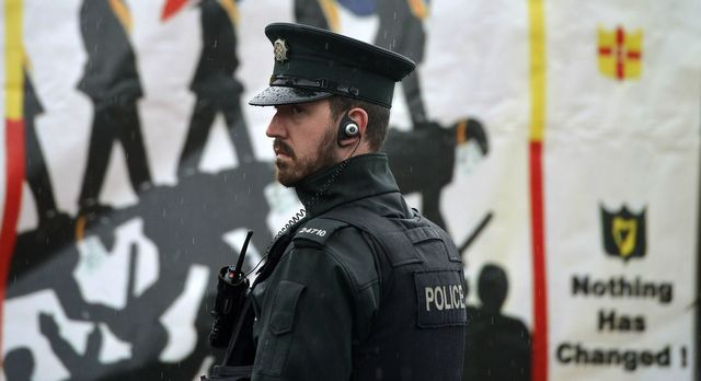 PSNI officer Northern Ireland - sharp increase in terrorist attacks in the past week, thought to be due to looming no-deal Brexit