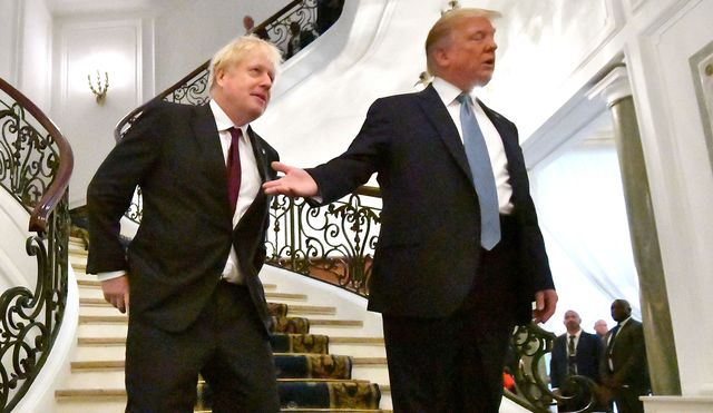British Prime Minister Boris Johnson and President Donald Trump meet at last week's G7 Summit.