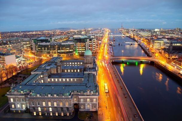 Dublin city from the air: Brexit will benefit the Irish financial sector.