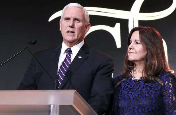Vice President Mike Pence and the Second Lady Karen.