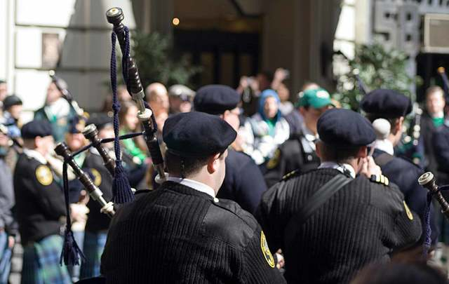 Marchers at the Fifth Avenue St Patrick\'s Day Parade.