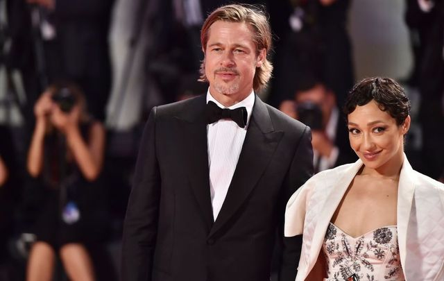 "Brad Pitt and Ruth Negga walk the red carpet ahead of the ""Ad Astra\"" screening during the 76th Venice Film Festival at Sala Grande on August 29, 2019, in Venice, Italy."