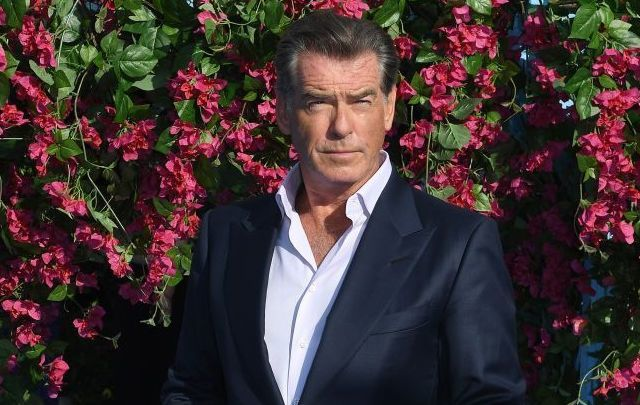 "Pierce Brosnan attends the ""Mamma Mia! Here We Go Again\"" world premiere at the Eventim Apollo, Hammersmith on July 16, 2018, in London, England."