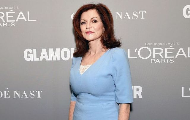 Op-Ed Columnist Maureen Dowd poses backstage during Glamour Women Of The Year 2016 LIVE Summit at NeueHouse Hollywood on November 14, 2016, in Los Angeles, California.