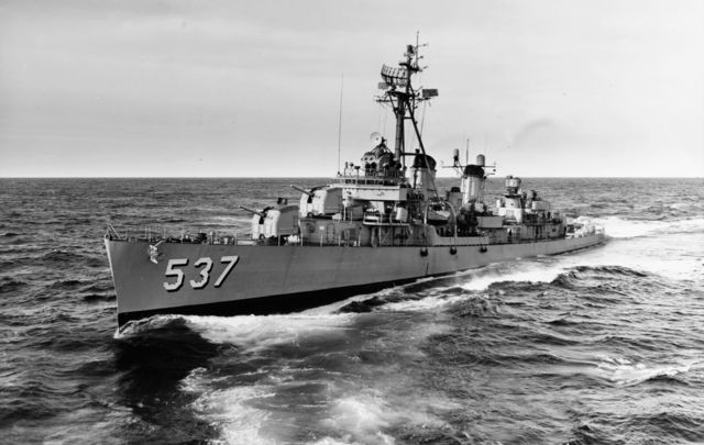 The USS Sullivan in 1962.