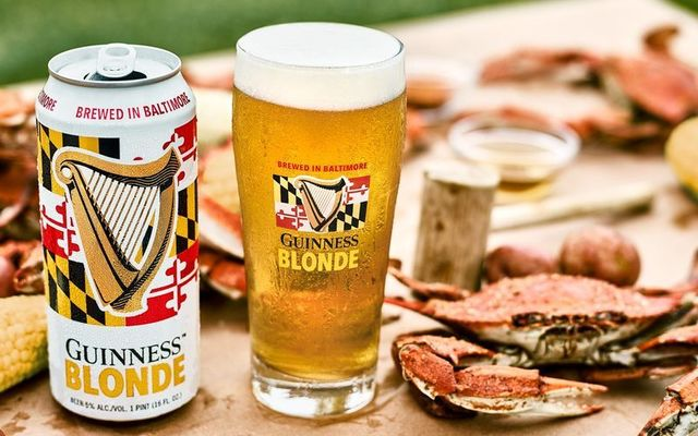 Guinness Blonde and Maryland crabs