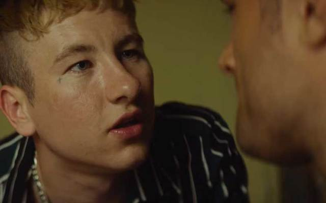 "Barry Keoghan and Cosmo Jarvis in a clip from ""Calm With Horses."""