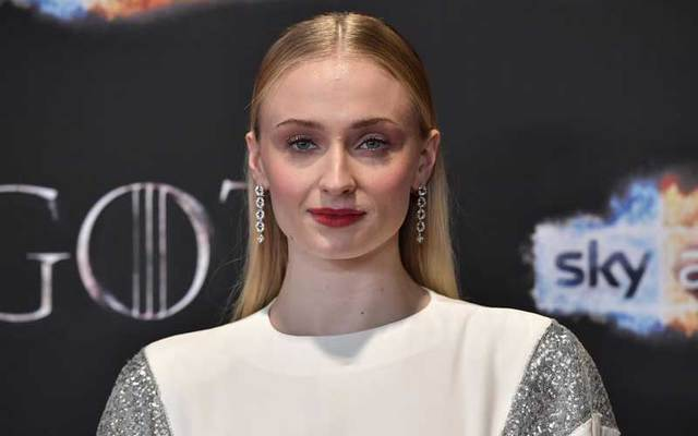 "Sophie Turner at the ""Game of Thrones\"" Season 8 premier in Belfast in April 2019."