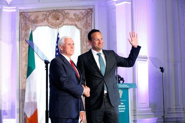 US Vice President Mike Pence and Irish leader Leo Varadkar.