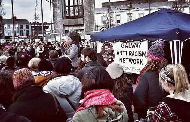 An anti-racism demonstration in Galway.