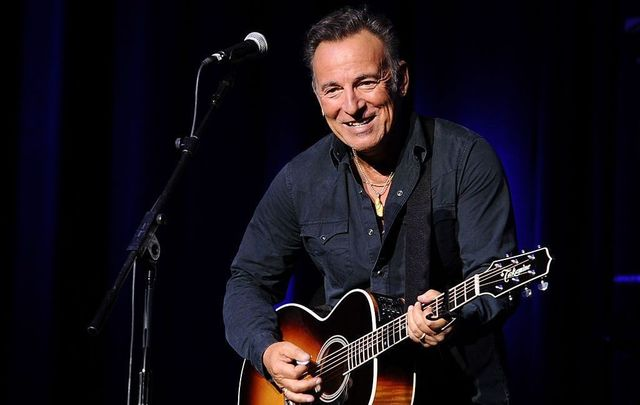 Musician Bruce Springsteen performs on stage at the New York Comedy Festival and the Bob Woodruff Foundation\'s 9th Annual Stand Up For Heroes Event on November 10, 2015, in New York City.