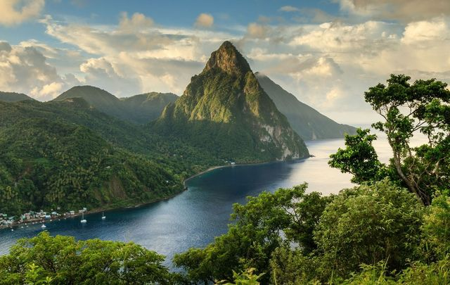 The wonderful St Lucia is among the countries you can visit on an Irish passport.