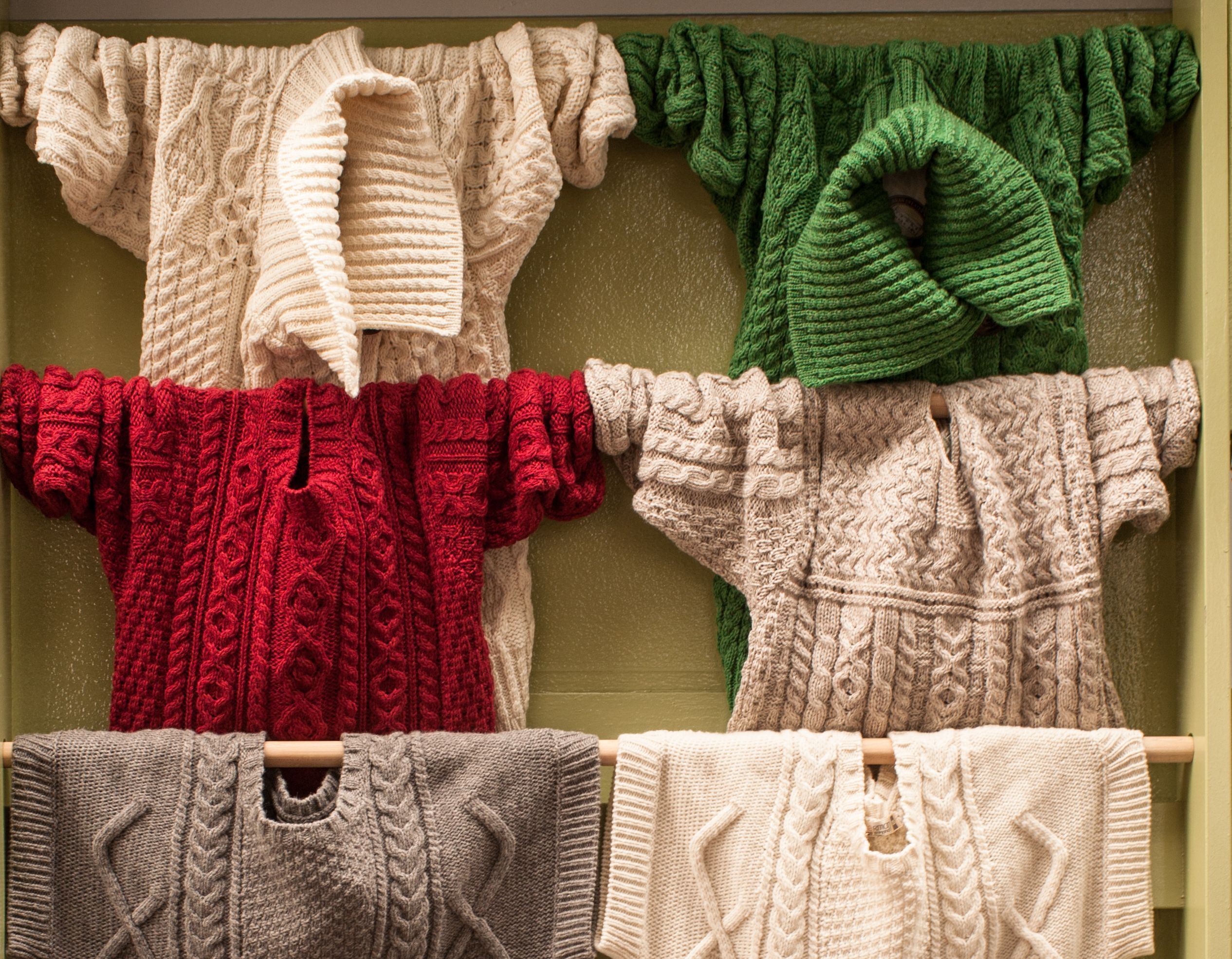 The real deal Aran sweaters in the middle of Galway city