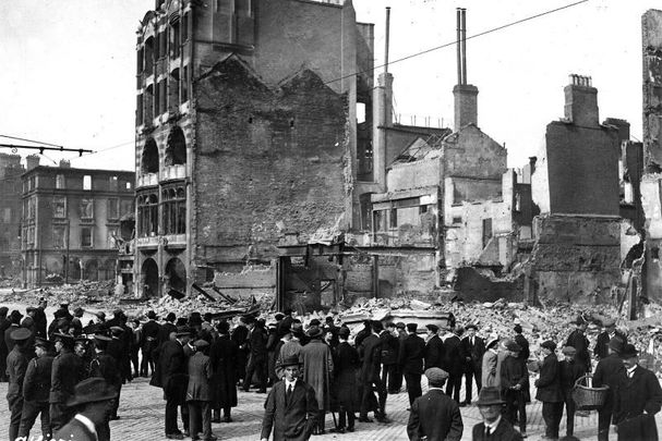 Sackville Street in Dublin in April 1916.
