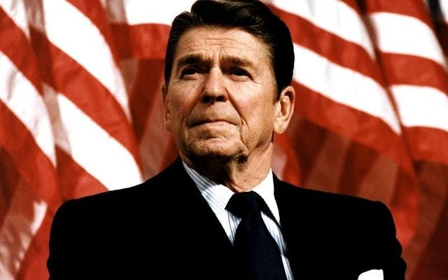 US President Ronald Reagan.