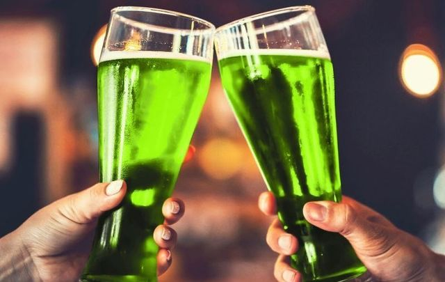 Green beer for St. Patrick\'s Day was first unveiled in 1914 New York City.