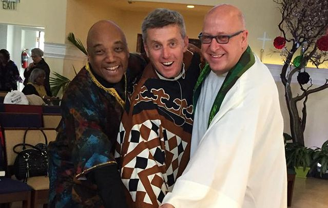 Last Sunday of African American Series with Fr McAleenan (center).