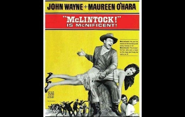John Wayne and Maureen O\'Hara in McLintock!