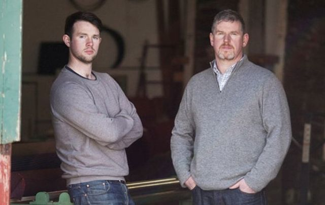 The recession and a job loss helped Kieran Molloy and father Shaun commit to a new joint tweed making venture in Donegal with Molloy & Sons tweed.