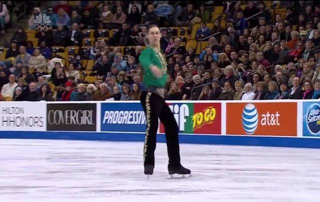 Figure skater Jason Brown performs to Reel Around the Sun from Riverdance.