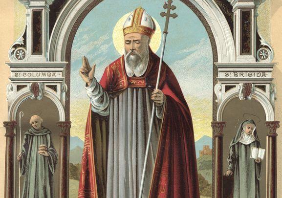 Saint Patrick: The world's most famous Saint, the patron saint of Ireland, Australia, Nigeria and Montserrat.