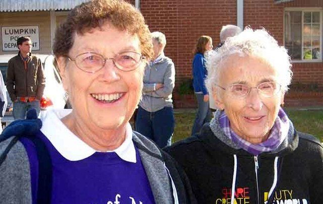 Sister Pat Murphy (right) and her partner Sister JoAnn Persch