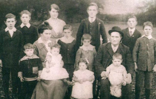 The Clarke family of Loughrae, Co. Galway nabbed the Guinness World Record for the largest number of siblings to live to 100, with five of the siblings celebrating their 100th birthdays. Above: The Clarke family in 1916.
