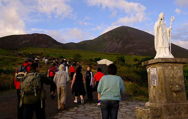 Rare megalithic engraving or prehistoric ornamentation found on County Mayo pilgrimage route,  Croagh Patrick.