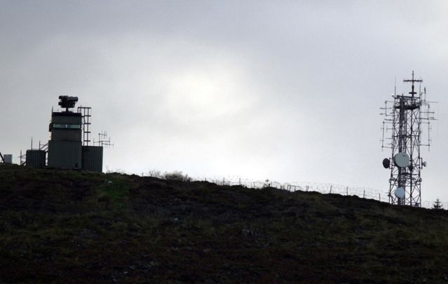 The British Army watchtower on Slieve Gullion Mountain in South Armagh, overlooking the village of Jonesborough, was for a number of years a conspicuous reminder of the fortified border.