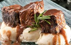 Guinness braised short ribs and horseradish mashed potatoes recipe for St. Patrick's Day