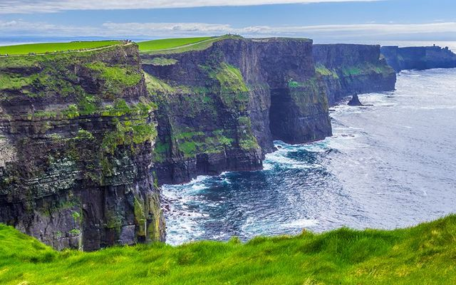 One of Ireland\'s most popular natural wonders, the Cliffs of Moher, in County Clare.