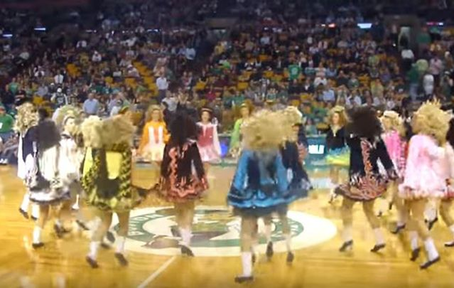 Bremer School of Irish Dance repeatedly entertain the crowds with their remarkable footwork.