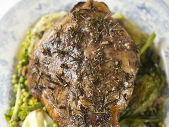 Roast Lamb with Rosemary and Garlic